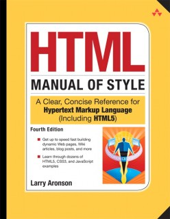 HTML Manual of Style front cover
