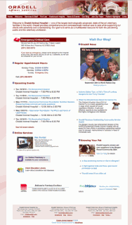 Oradell Animal Hospital website screenshot