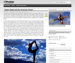 Screen shot of Profoto-USA home page