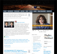 Home page of DigitalHHR