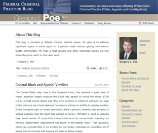 Gregory Poe's Federal Criminal Practice Blog
