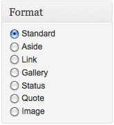 Post formats in WordPress